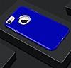 iPhone 7 Metal Kamera Korumalı Lacivert Silikon Kılıf - Resim 4