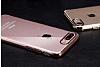 iPhone 7 Rose Gold Çerçeveli Şeffaf Silikon Kılıf - Resim 4
