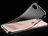 iPhone 7 Silver Çerçeveli Şeffaf Silikon Kılıf - Resim 4
