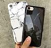 iPhone 7 Granit Görünümlü Beyaz Silikon Kılıf - Resim 2