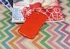 iPhone 7 / 8 Metal Tuşlu Mat Kırmızı Silikon Kılıf - Resim 1