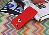 iPhone 7 Plus 360 Derece Koruma Likit Kırmızı Silikon Kılıf - Resim 1