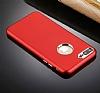 iPhone 7 Plus Kamera Korumalı Kırmızı Silikon Kılıf - Resim 3