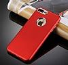iPhone 7 Plus Kamera Korumalı Kırmızı Silikon Kılıf - Resim 1
