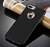 iPhone 7 Plus Kamera Korumalı Siyah Silikon Kılıf - Resim 3