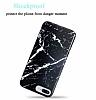iPhone 7 Plus / 8 Plus Parlak Granit Görünümlü Siyah Silikon Kılıf - Resim 1