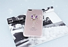iPhone 7 Plus / 8 Plus Taşlı Kelebek Şeffaf Silikon Kılıf - Resim 1