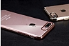 iPhone 7 Plus / 8 Plus Dark Silver Çerçeveli Şeffaf Silikon Kılıf - Resim 4