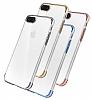 iPhone 7 Plus / 8 Plus Dark Silver Çerçeveli Şeffaf Silikon Kılıf - Resim 7
