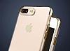 iPhone 7 Plus / 8 Plus Dark Silver Çerçeveli Şeffaf Silikon Kılıf - Resim 3