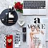 iPhone 7 Plus Couple Love Taşlı Aynalı Kılıf - Resim 1