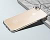 iPhone 7 Plus / 8 Plus Dark Silver Çerçeveli Şeffaf Silikon Kılıf - Resim 1