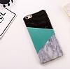 iPhone 7 Plus Granit Görünümlü Yeşil Silikon Kılıf - Resim 1
