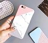 iPhone 7 Plus / 8 Plus Granit Görünümlü Pembe Silikon Kılıf - Resim 2