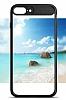 Eiroo Cam Hybrid iPhone 7 Plus Kamera Korumalı Siyah Kenarlı Rubber Kılıf - Resim 4