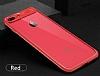 Eiroo iPhone 7 Plus /8 Plus Kamera Korumalı Kırmızı Kenarlı Rubber Kılıf - Resim 4