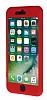 iPhone 7 Plus Koruma Likit Kırmızı Silikon Kılıf - Resim 3