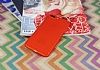 iPhone 7 Plus / 8 Plus Metal Tuşlu Mat Kırmızı Silikon Kılıf - Resim 1