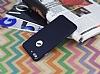 iPhone 7 Plus Metal Tuşlu Mat Lacivert Silikon Kılıf - Resim 2