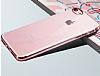 iPhone 7 Plus / 8 Plus Gold Çerçeveli Şeffaf Silikon Kılıf - Resim 1