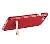 Hoco iPhone 7 Plus / 8 Plus Standlı Deri Kırmızı Rubber Kılıf - Resim 3