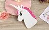 iPhone 7 Plus Unicorn Pembe Silikon Kılıf - Resim 1