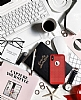 iPhone X Delikli Mat Kırmızı Silikon Kılıf - Resim 1