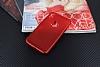 iPhone X Delikli Mat Kırmızı Silikon Kılıf - Resim 3