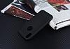 iPhone X Delikli Mat Siyah Silikon Kılıf - Resim 2