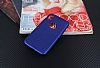 iPhone X Delikli Mat Lacivert Silikon Kılıf - Resim 2