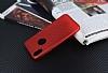 iPhone X Delikli Mat Kırmızı Silikon Kılıf - Resim 2