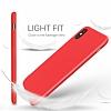 iPhone X Kadife Dokulu Lacivert Silikon Kılıf - Resim 1