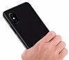 iPhone X Mat Siyah Silikon Kılıf - Resim 2