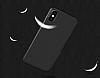 Dafoni Membrane iPhone X Ultra İnce Mat Siyah Silikon Kılıf - Resim 2