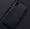 Dafoni Membrane iPhone X Ultra İnce Mat Siyah Silikon Kılıf - Resim 1