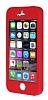 iPhone SE / 5 / 5S 360 Derece Koruma Likit Kırmızı Silikon Kılıf - Resim 3