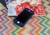 iPhone SE / 5 / 5S 360 Derece Koruma Likit Lacivert Silikon Kılıf - Resim 1