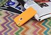 iPhone SE / 5 / 5S 360 Derece Koruma Likit Turuncu Silikon Kılıf - Resim 2