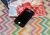 iPhone SE / 5 / 5S 360 Derece Koruma Likit Siyah Silikon Kılıf - Resim 1