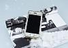 iPhone SE / 5 / 5S 360 Derece Koruma Taşlı Gold Rubber Kılıf - Resim 1