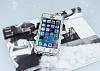 iPhone SE / 5 / 5S 360 Derece Koruma Taşlı Silver Rubber Kılıf - Resim 1