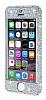 iPhone SE / 5 / 5S 360 Derece Koruma Taşlı Silver Rubber Kılıf - Resim 3