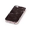 iPhone SE / 5 / 5S Granit Görünümlü Siyah Silikon Kılıf - Resim 3
