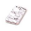 iPhone SE / 5 / 5S Granit Görünümlü Beyaz Silikon Kılıf - Resim 2