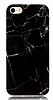 iPhone SE / 5 / 5S Granit Görünümlü Siyah Silikon Kılıf - Resim 4