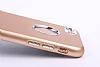 iPhone SE / 5 / 5S Metal Kamera Korumalı Kırmızı Silikon Kılıf - Resim 3