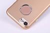 iPhone SE / 5 / 5S Metal Kamera Korumalı Kırmızı Silikon Kılıf - Resim 2