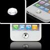 iPhone ve iPad Home Butonu + Şarj ve Kulaklık Pembe Toz Önleyici Set - Resim 8