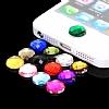 iPhone ve iPad Home Butonu + Şarj ve Kulaklık Mavi Toz Önleyici Set - Resim 5