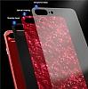 iPhone X / XS 360 Derece Koruma Desenli Manyetik Cam Kırmızı Kılıf - Resim 1